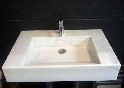 lavamanos mármol blanco