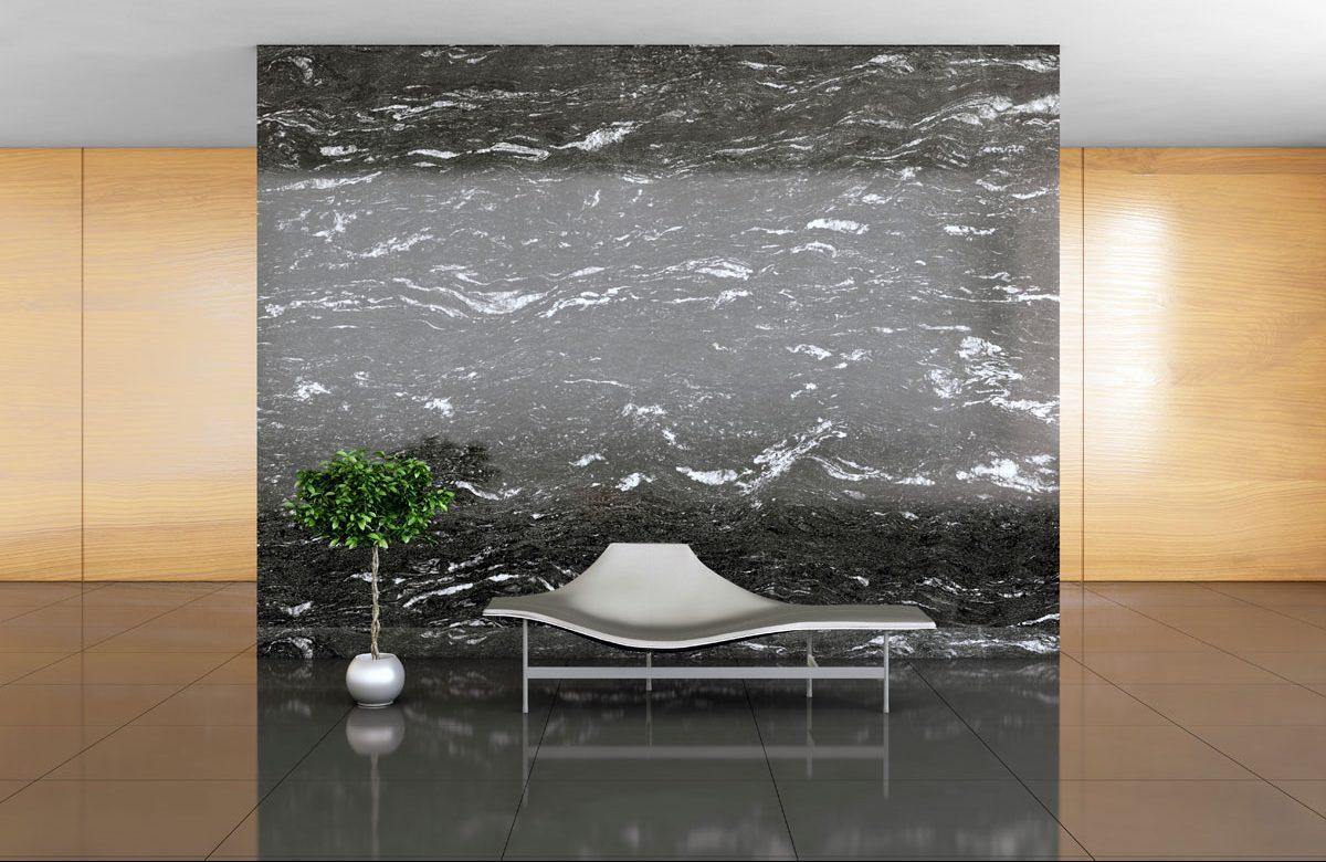 revestimiento pared marmol negro